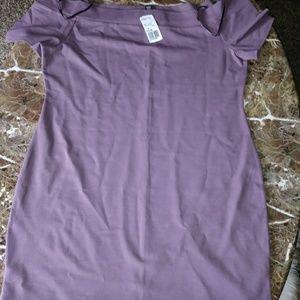 Lavender bodycon mini dress
